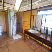 You know you wanted to see it; our well-appointed bathroom inside our Maramboi tent.