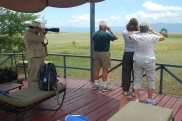 Everyone had a great view of the wildlife from the pool deck.