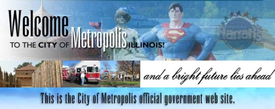 This is the header on the official City of Metropolis website.
