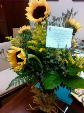 Proof: I sent these sunflowers to Amanda for the 7th anniversary of our first date.