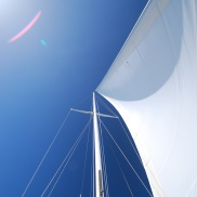 Gazing up at Winifred's sail is a great opportunity to downshift.