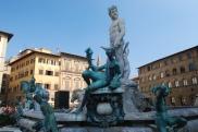 Neptune surveys the piazza.