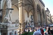 The Loggia della Signoria is home to even more statues.