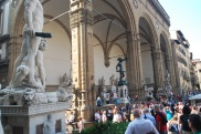 The Loggia della Signoria is home to even more statues.