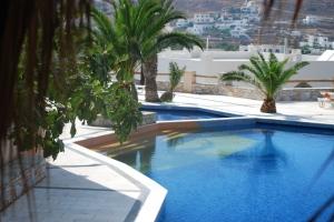 The lovely pool at Homer's Inn Hotel