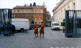 Members of the Swiss Guard in Vatican City.