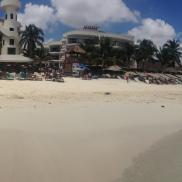 The beautiful beach in Playa del Carmen.