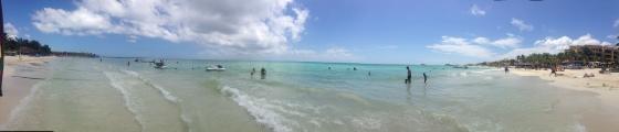 The gorgeous Caribbean off the coast of  Playa del Carmen.