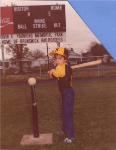 A young Zeke at the plate.