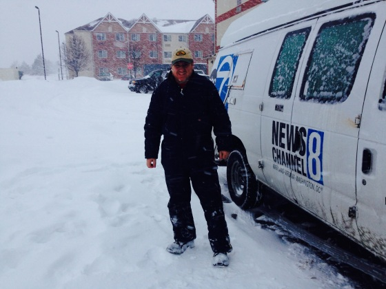 That's me, with my truck and about 15 inches of snowfall.