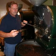 Roasting those beautiful beans. (Photo courtesy Mountain Thunder)