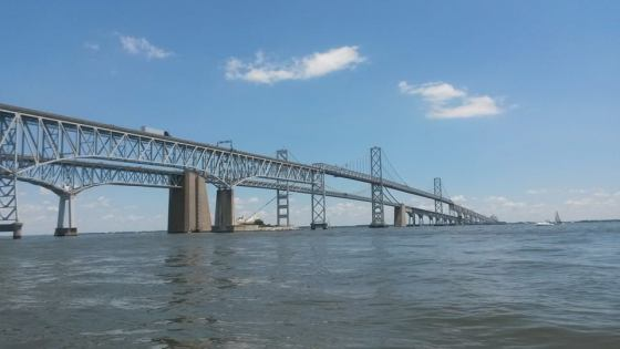 We made it to our goal, sailing from Annapolis to the Chesapeake Bay Bridge and back.