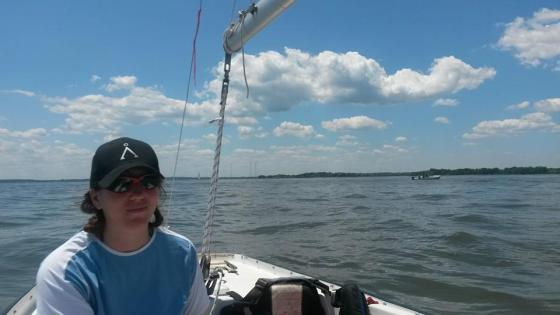 Andrea out on the Chesapeake Bay.