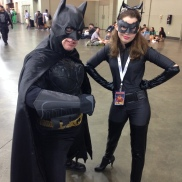 Batman and a sassy Catwoman