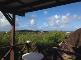 The view from our deck at Guavaberry Spring Bay, BVI.