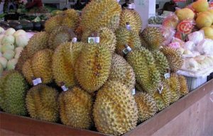 Durian at a supermarket