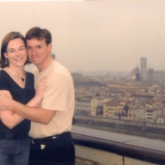On what would become our first date, in Florence.