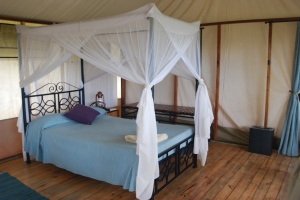 One of our sleeping quarters in Tanzania