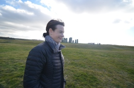 Walking by the henge.