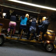 Your gym buddies go out drinking on a huge bike, right?
