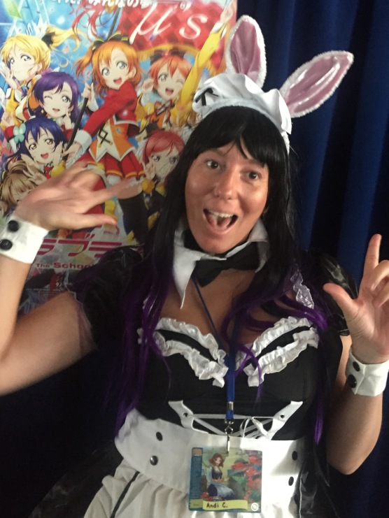 Andi Gilbert -This cute little bunny has a blood lust, so be careful. (Otakon 2015)