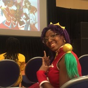 The cosplayer was happy to see her favorite character cited in the Women in Anime lecture.