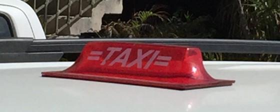 A taxi cab light in Playa Del Carmen