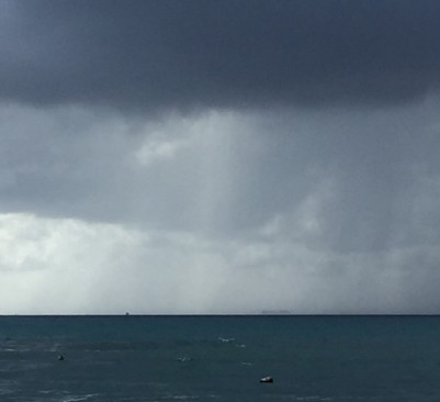 A Rain Storm Over Playa Del Carmen, MX