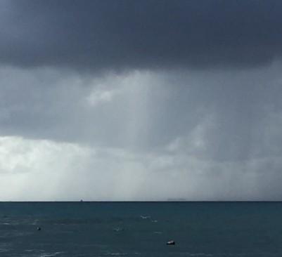 A Rain Storm Over Playa Del Carmen, MX