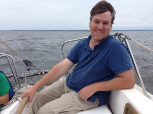 Zeke (me) Sailing the Chesapeake Bay in 2015