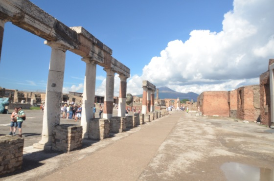 The forum in Pompeii