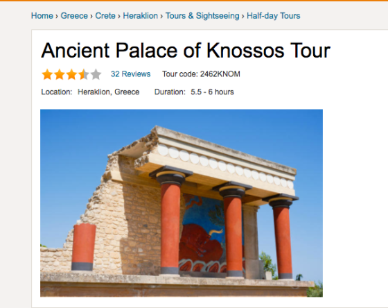 Viator Tours Ancient Palace of Knossos