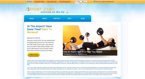 Airport Gyms Website