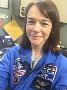 Amanda in her NASA flight suit