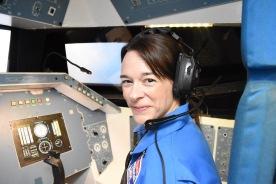 Amanda pilots the space shuttle