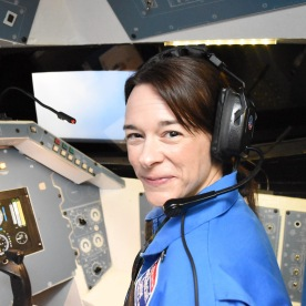 Amanda pilots the space shuttle