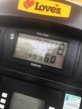 I had to fill up five times.
